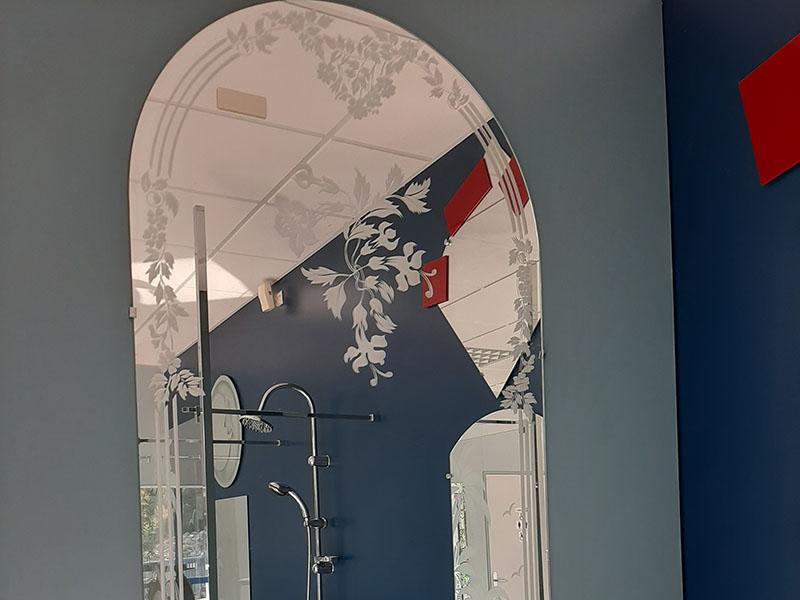 Sablage décoratif sur verre